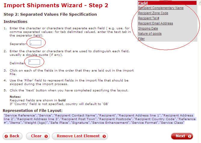 Despatch manager online import duty
